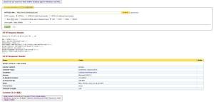 Imagen de web sniffer donde se puede ver el problema de cloackling en la página home de Bicicletas Gil