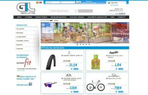 Captura de imagen de la página principal de la web de venta 'Bicicletas Gil'