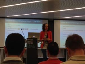 Patricia, VP Marketing de Zyncro, explicando la relevancia de Inbound Marketing en las compañías B2B y la importancia de las Redes Sociales para conseguir más ventas