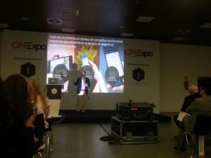 Juan Manuel Jura explica la estrategia de Facebook como plataforma de publicidad para las aplicaciones. Charla que tuvo lugar en la Sala Contversion de OMExpo 2014