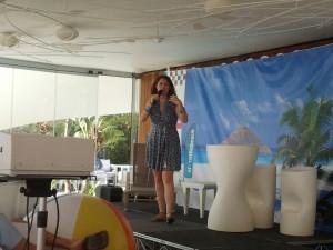 Natalia Sampériz es la protagonista de la primera ponencia del segundo dia de SEonthebeach, sobre keywords.
