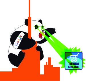 Imagen de Panda, uno de los algoritmos de Google, que penaliza páginas web con contenido duplicado y contenido débil en su contenido.