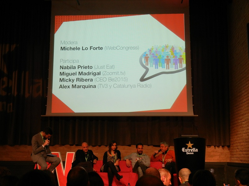 Mesa redonda sobre user engagement en webcongress barcelona