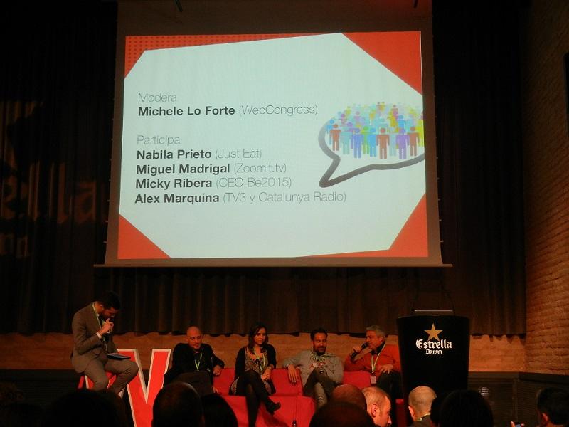 Mesa redonda sobre user engagement en webcongress barcelona